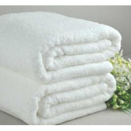 Полотенце махровое (50х100) белое  фото
