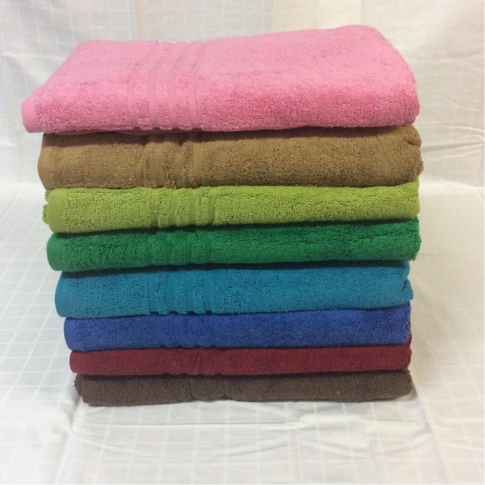 Полотенце махровое цветное (50х90) фото