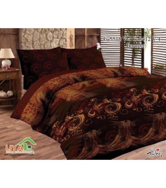 Евро комплект постельного белья из поплина фото