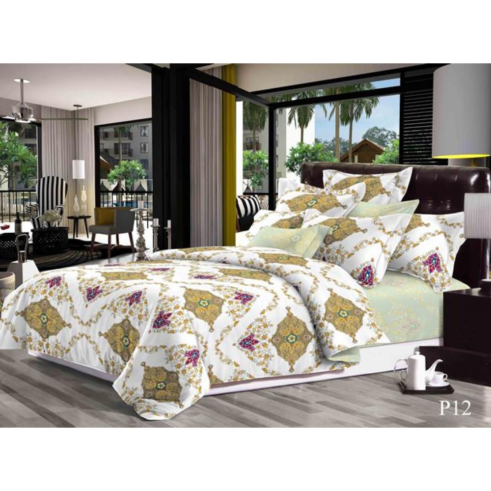 1.5 спальный комплект постельного белья из поплина фото