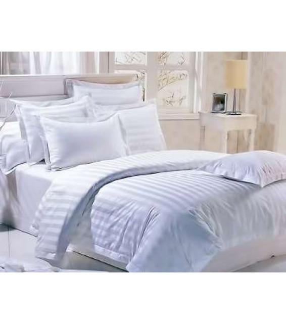 Евро комплект постельного белья из сатин-страйпа для гостиниц фото
