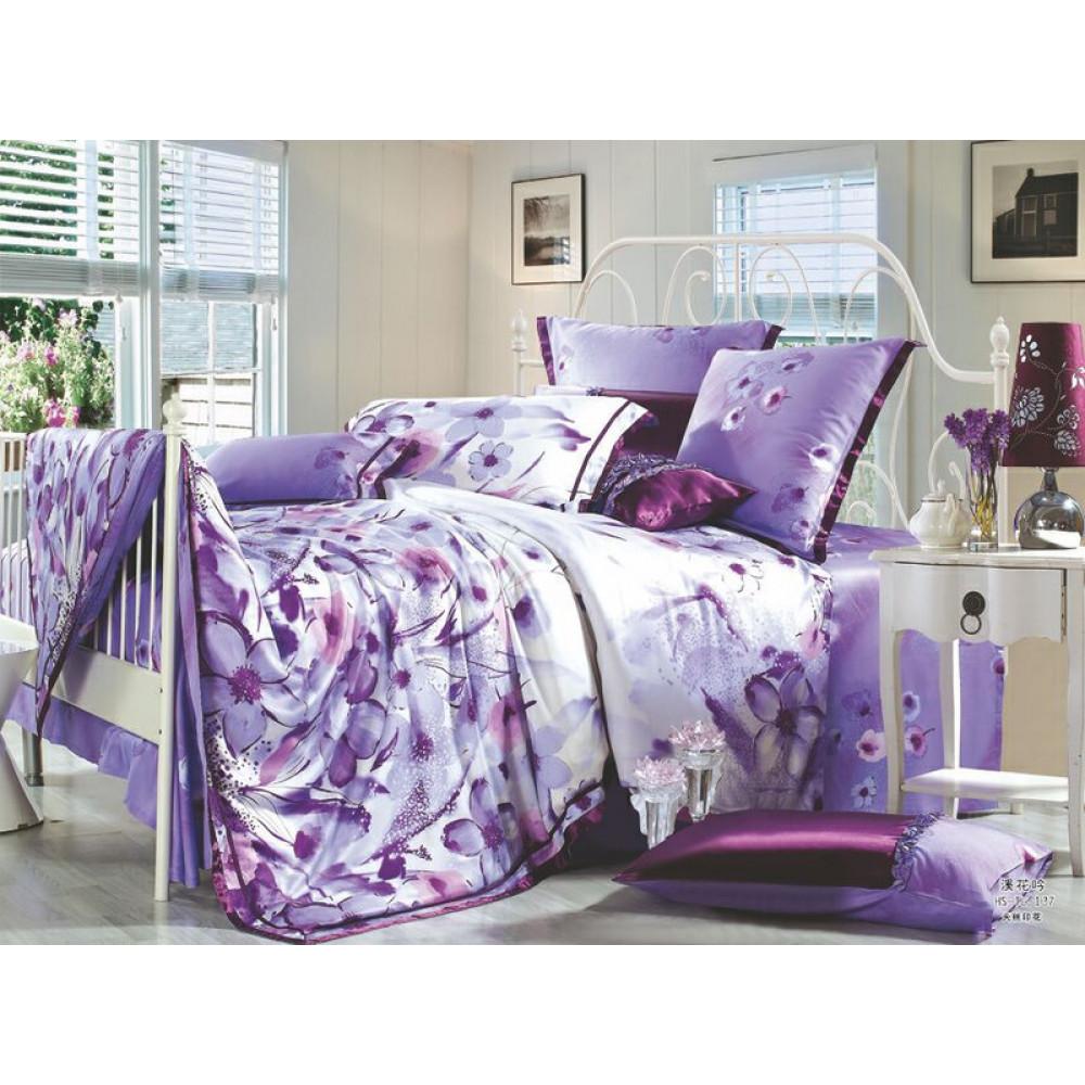 1.5 спальный комплект постельного белья из тенселя фото