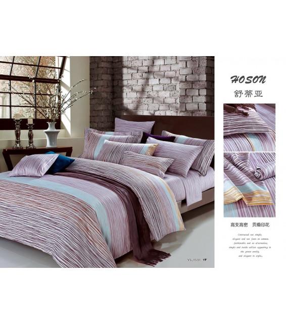 Евро комплект постельного белья из сатина премиум-класса фото