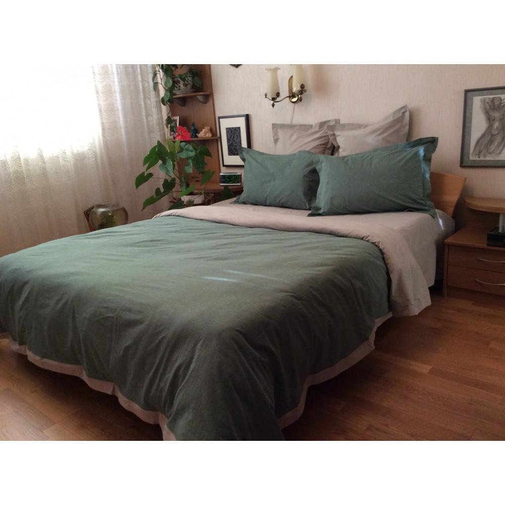 """1.5 спальный комплект постельного белья, ткань """"варенный хлопок"""" фото"""