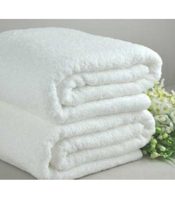 Полотенце махровое (70х140) белое   фото