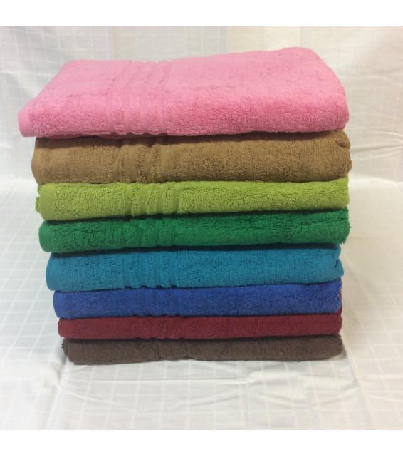 Полотенце махровое цветное (70х140) фото