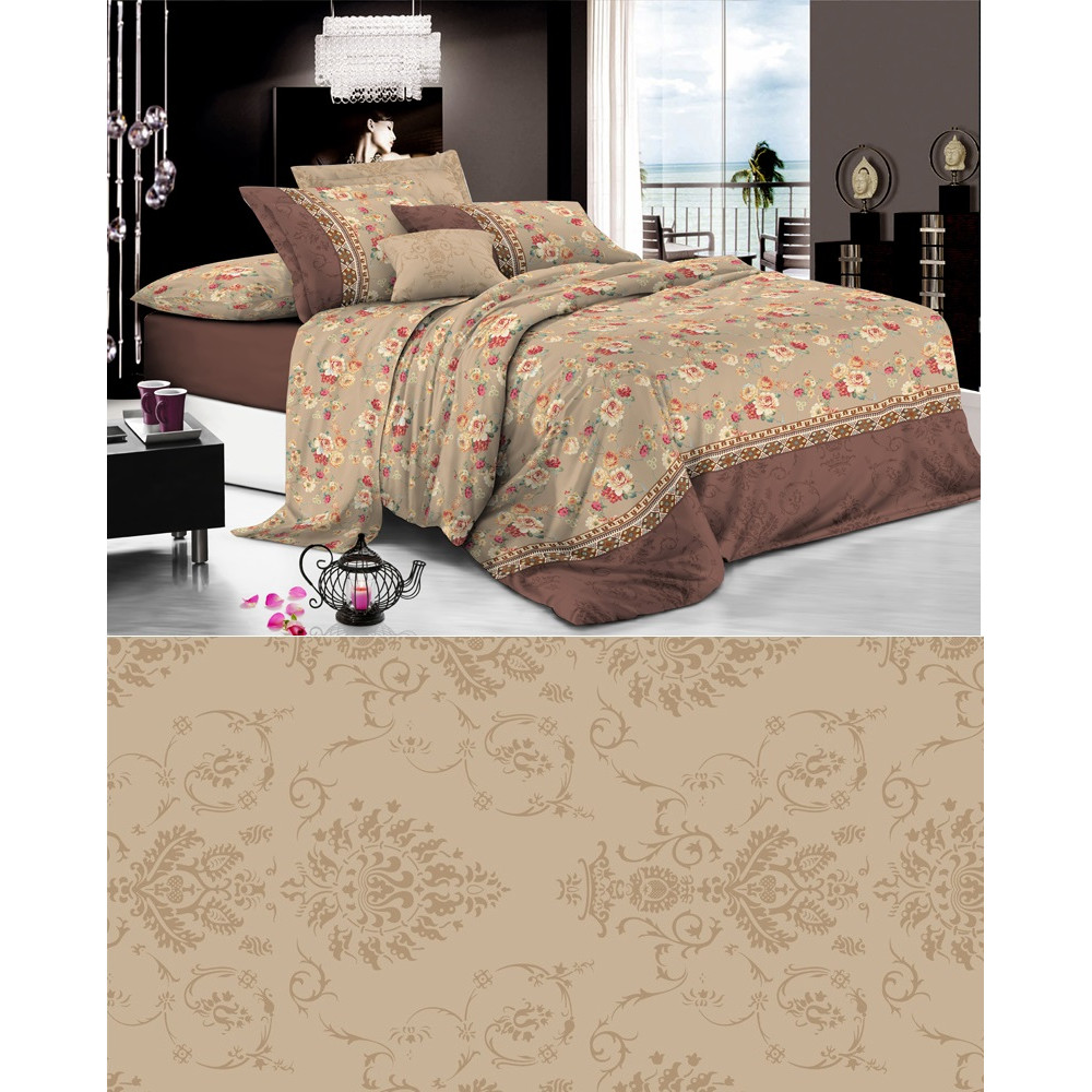 1.5 спальный комплект постельного белья из сатина фото