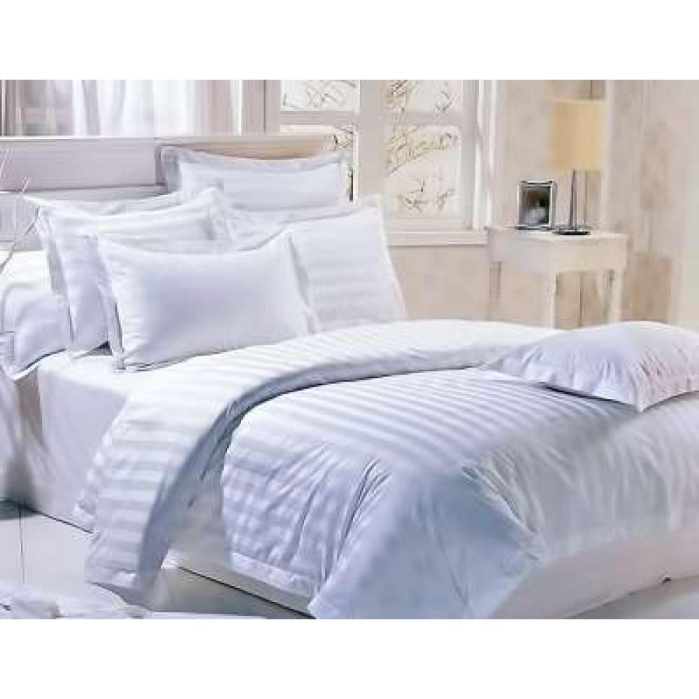 1.5 спальный комплект постельного белья из сатин-страйпа для гостиниц фото