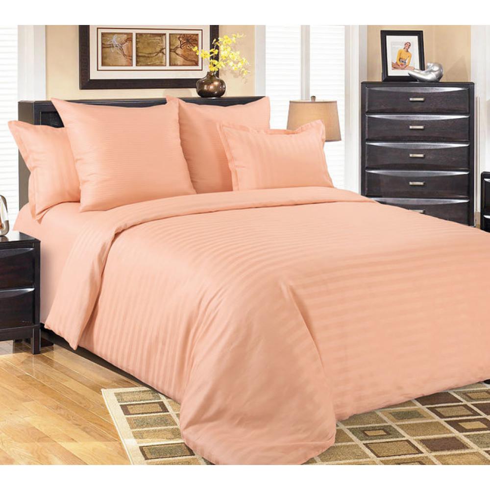 1,5 спальный комплект постельного белья из сатин-страйпа фото